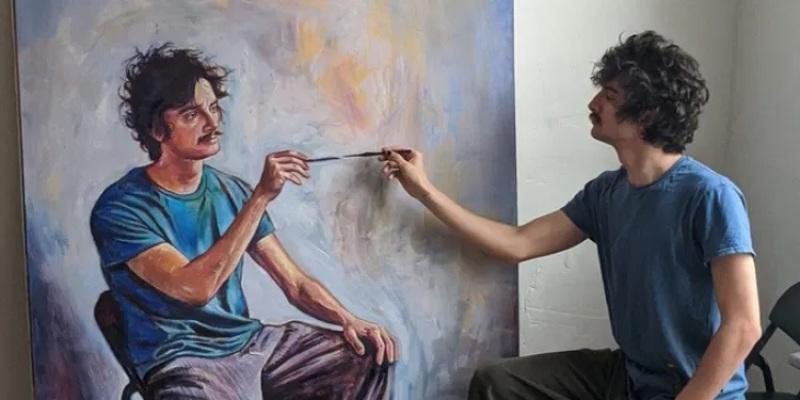 Mộng thấy người họa sĩ tự vẽ chính mình