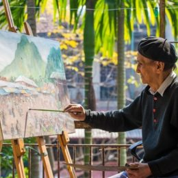 Chiêm bao thấy họa sĩ vẽ tranh làng quê miền núi